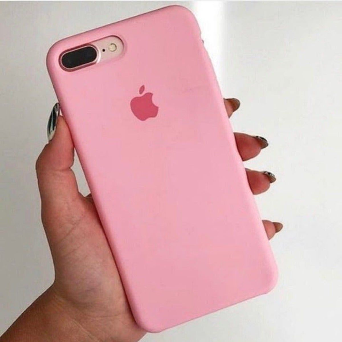 Iphone 7 8 Plus Bright Pink Case Cover Apple Phone Case Pink Iphone 7 Case Silicone Iphone Cases