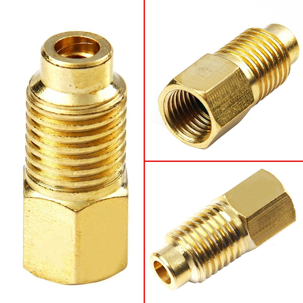 1PC Mayitr R12 To R134a Brass Fitting Adapter Screw Thread 1/4