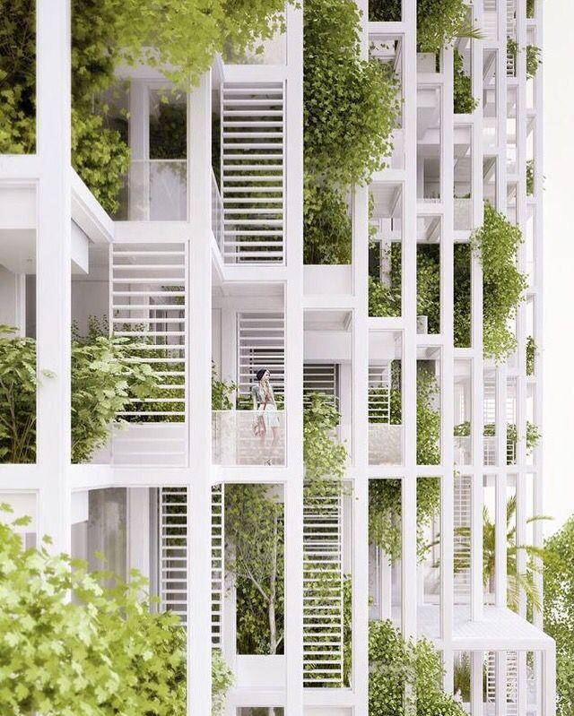 Galeria Penda, projeto de torres residenciais, verdes e modulares na India.    Gallery of Penda to build Modular housing tower, green customizabile in India.