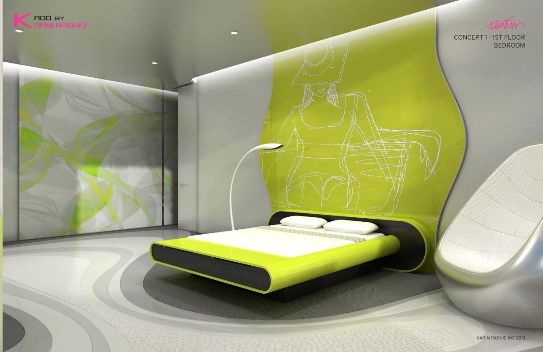 Karim rashid industrial design pinterest karim rashid modern bedroom design y futuristic Diseno interior futurista