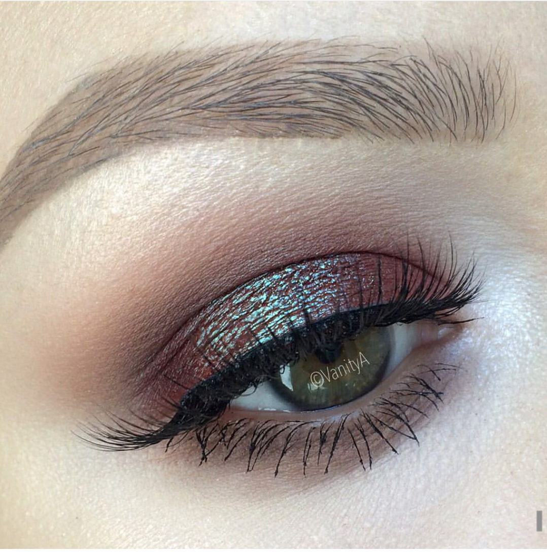 cooltoned bluebrown duochrome eye makeup alexandra