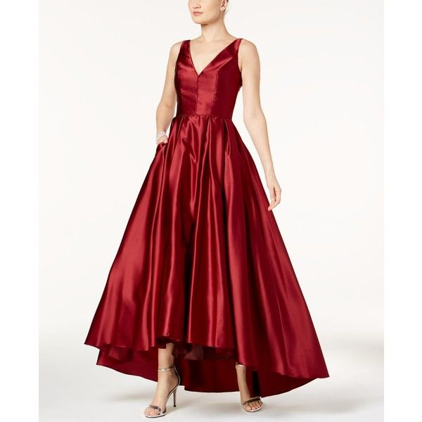 Betsy Amp Adam Satin Fit Amp Flare Gown 259 Liked On