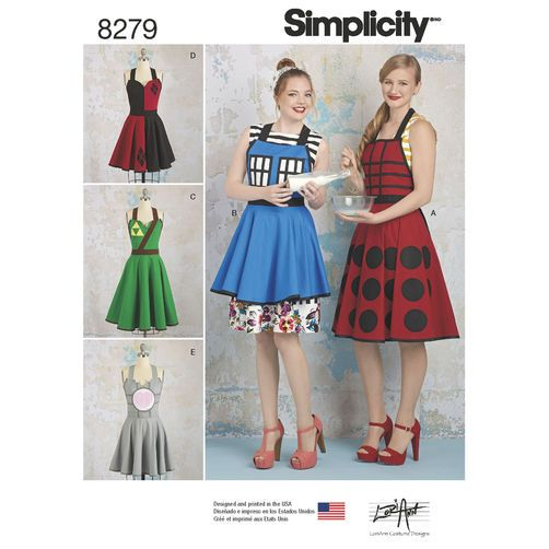 Simplicity Pattern 8279 Misses\' Aprons from Lori Ann Costume Designs ...