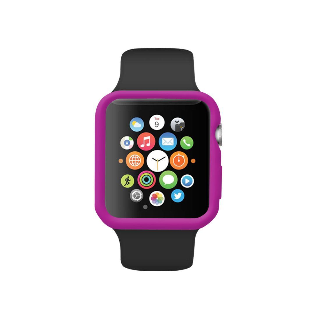 Purple Ultra Slim Soft Silicon Snap On Case Apple watch