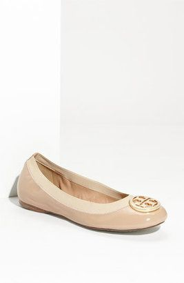 805b4f319560 ShopStyle  Tory Burch  Caroline  Elastic Trim Ballerina Flat -- NEED and  will get these! The hubby can kiss my butt! haha