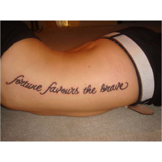 Fortune Favors The Brave #tattoo