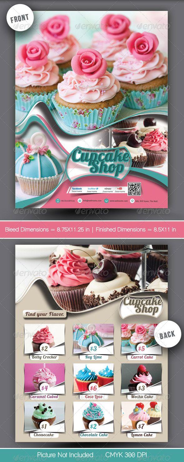 Cupcake Menu Template | yummy creations delightful bites | Pinterest