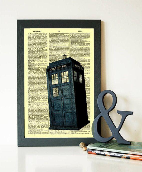 BUY 1 GET 1 FREE Doctor Who Art Print Police Box Tardis art print ...