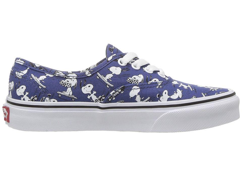 b7ac1ff1032f77 Vans Kids Authentic x Peanuts (Little Kid Big Kid) Kids Shoes (Peanuts)  Snoopy Skating