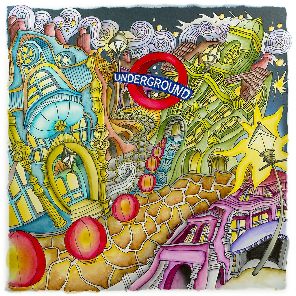 Th the magical city colouring in book - Soho From Lizzie Mary Cullen Book Magical City Colored By Me