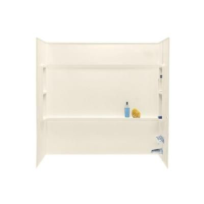 Swan 30 in. x 60 in. x 59.5 in. 3-Piece Direct-to-Stud Alcove Tub ...