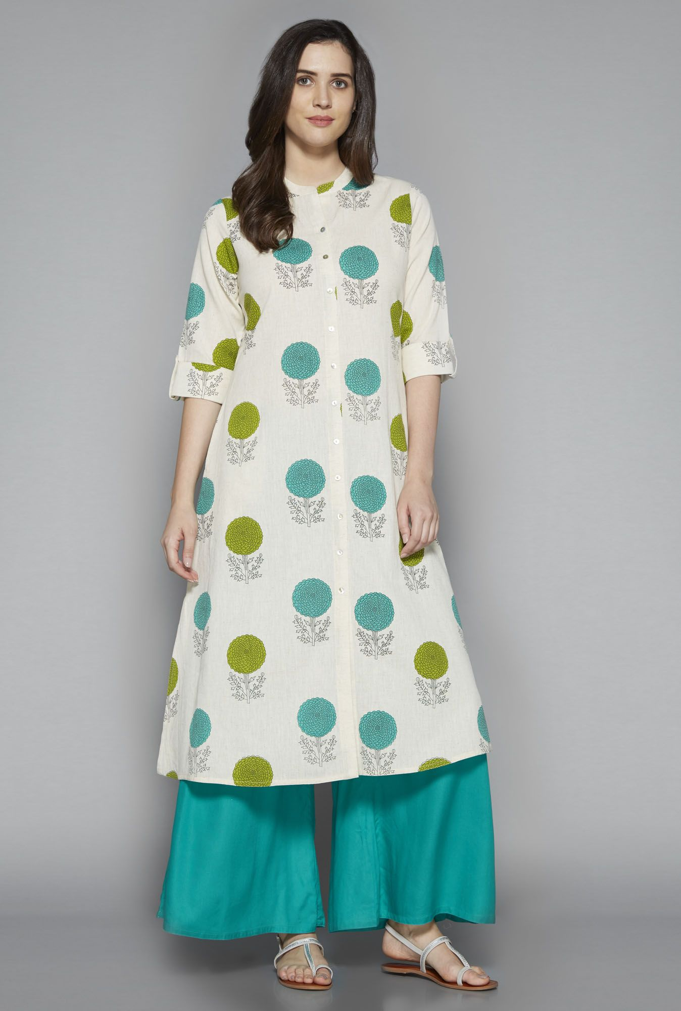 7858d988a7 Utsa by Westside Off White Floral Print Kurta | Exclusivity in 2019 ...