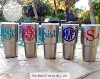 Bridal Party Vinyl Decal DIY Wedding Vinyl Stickers Tumbler Cup - How to make vinyl decals for cups