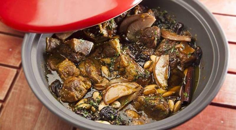 طاجن مغربي بلحم الضأن والخوخ طاجن برقوق من الشيف كريم حيدر Recipe Recipes Cooking Food