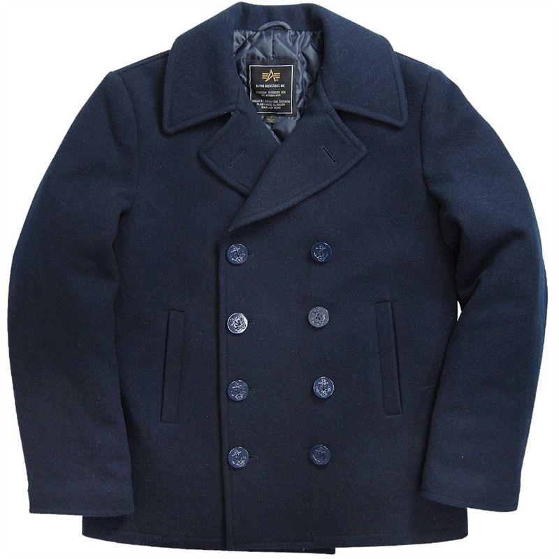 Alpha Industries   USN Pea Coat   мен лук   Coat, Navy pea coat и ... 4de0401fcc6