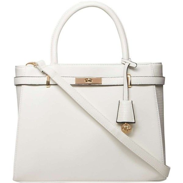 Dorothy Perkins White Belted Tote Bag 44 Liked On Polyvore Featuring Bags