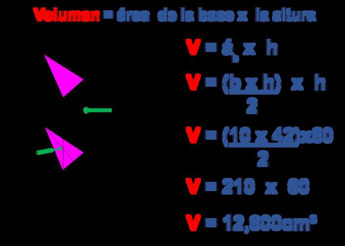 Ejemplos Resueltos De área Y Volumen De Prismas Lecciones De Matemáticas Apuntes De Clase Signos Matematicos