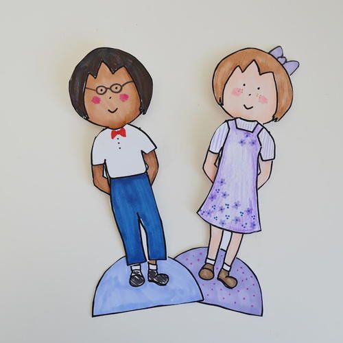Unisex Printable Paper Doll Template How to Make Paper Dolls