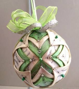 folded quilted christmas ornament