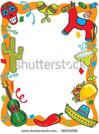 Mexican Border Clip Art Mexican Fiesta Frame Great For