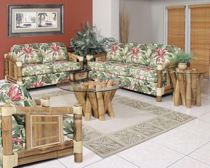 bamboo+living+room+set | Waikiki Living Room Set with Sleeper Sofa ...