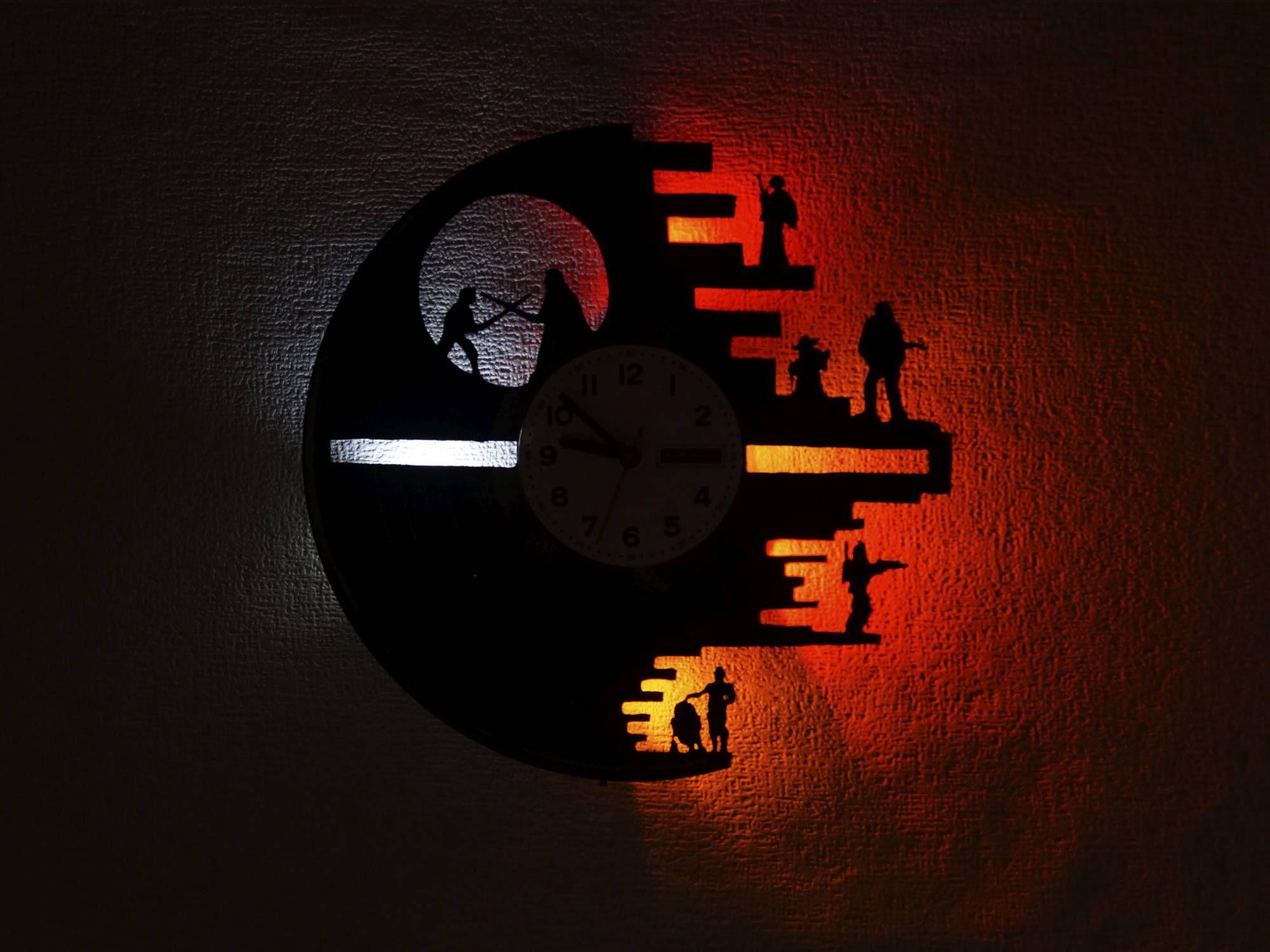Star Wars clock, Star Wars Wall clock, vinyl record clock, vinyl ...