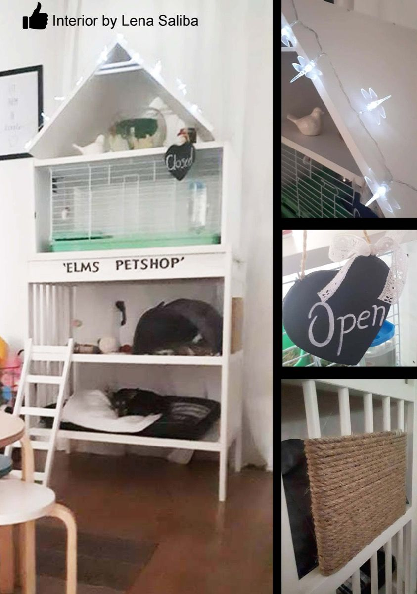Pet And Play A Multi Level Pet Home Ikea Hackers Pet Home Home Outdoor Cat House
