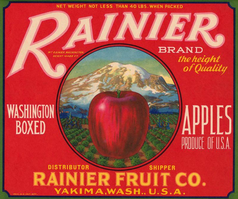 Dufur Oregon Democracy Statue of Liberty Apple Apples Fruit Crate Label Print