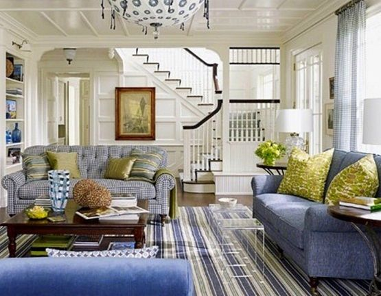 Blue Furniture Living Room Interior Design Ideas For Small India Love The Rug Areas