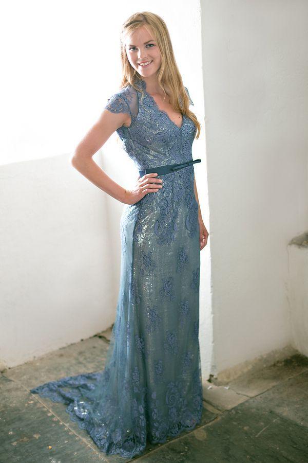 a9aa0321a059e Blue Bridesmaid Dresses - Elegant Bridesmaid Dress in Dusty Blue ...