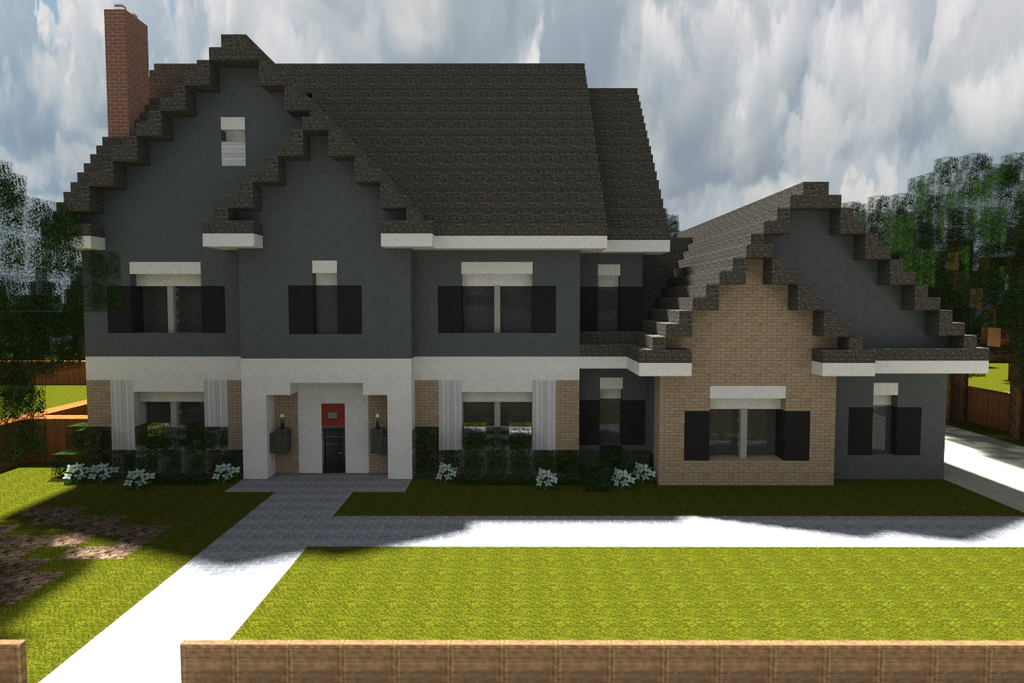 Minecraft Homes For Inspiration With Shader Render House By