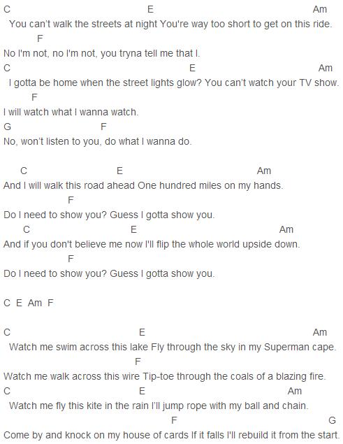Shawn Mendes Show You Chords Capo 2 Guitar Pinterest So 2