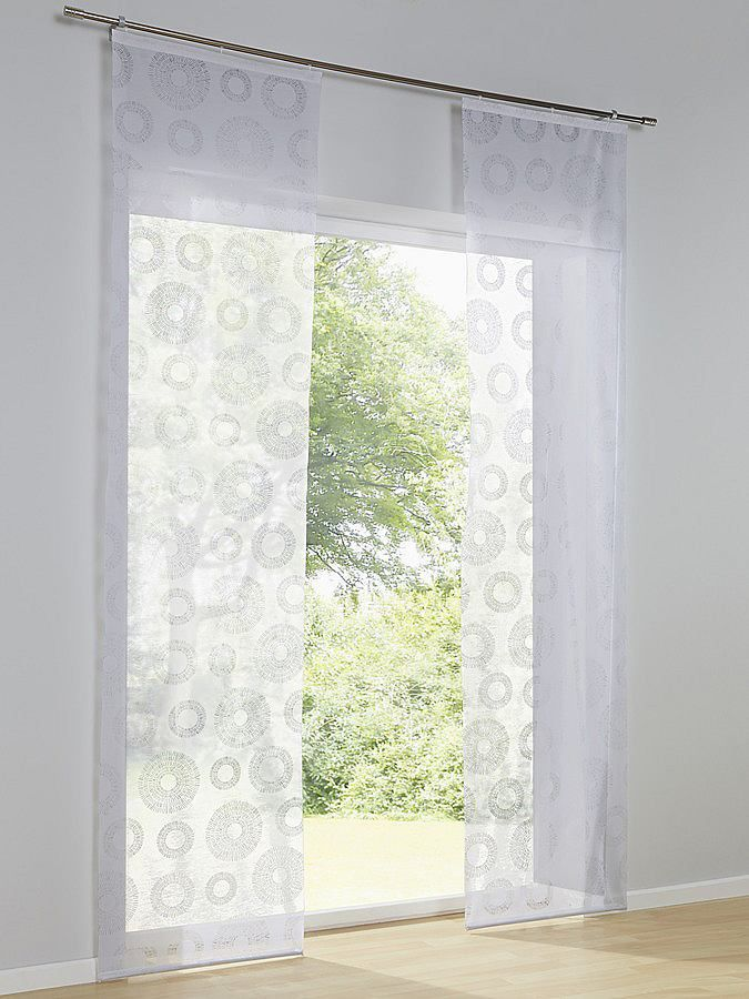 schiebevorhang wohnzimmer pinterest schiebevorhang raffrollo und kreise. Black Bedroom Furniture Sets. Home Design Ideas