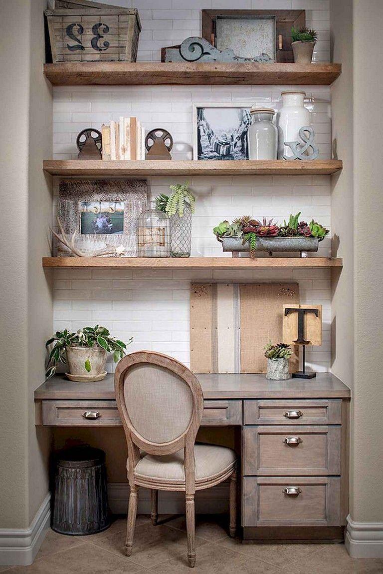 38 simple diy farmhouse desk decor ideas on a budget