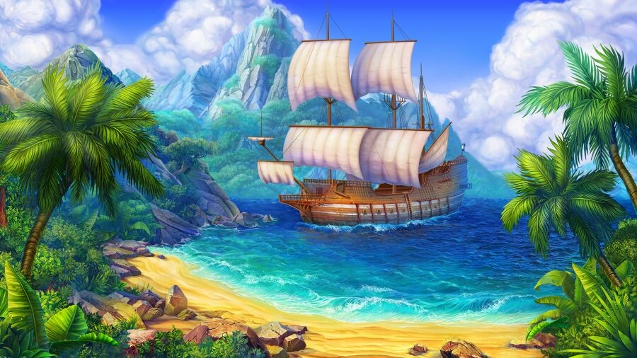 Artstation Beautiful Pirate Theme Background Slotopaint Gamedesign Inspirasi