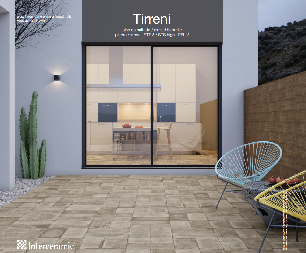 Interceramic tirreni pisos para patio exterior for Modelos de pisos para patios exteriores
