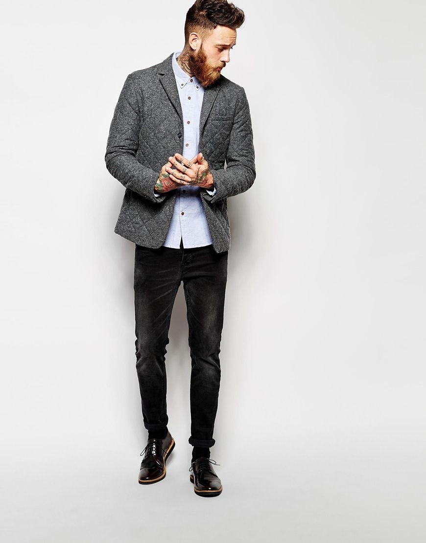 Image 4 ofASOS Slim Fit Blazer With Quilting
