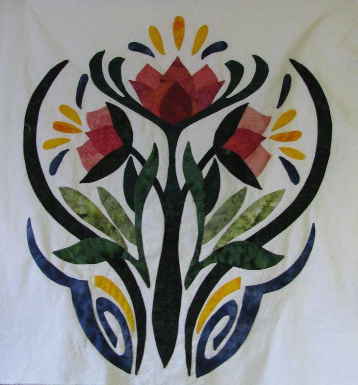 art nouveau quilts   Art Nouveau applique   Quilt   Pinterest ... : art nouveau quilts - Adamdwight.com