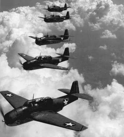 los Cinco US Navy TBF Grumman Avenger