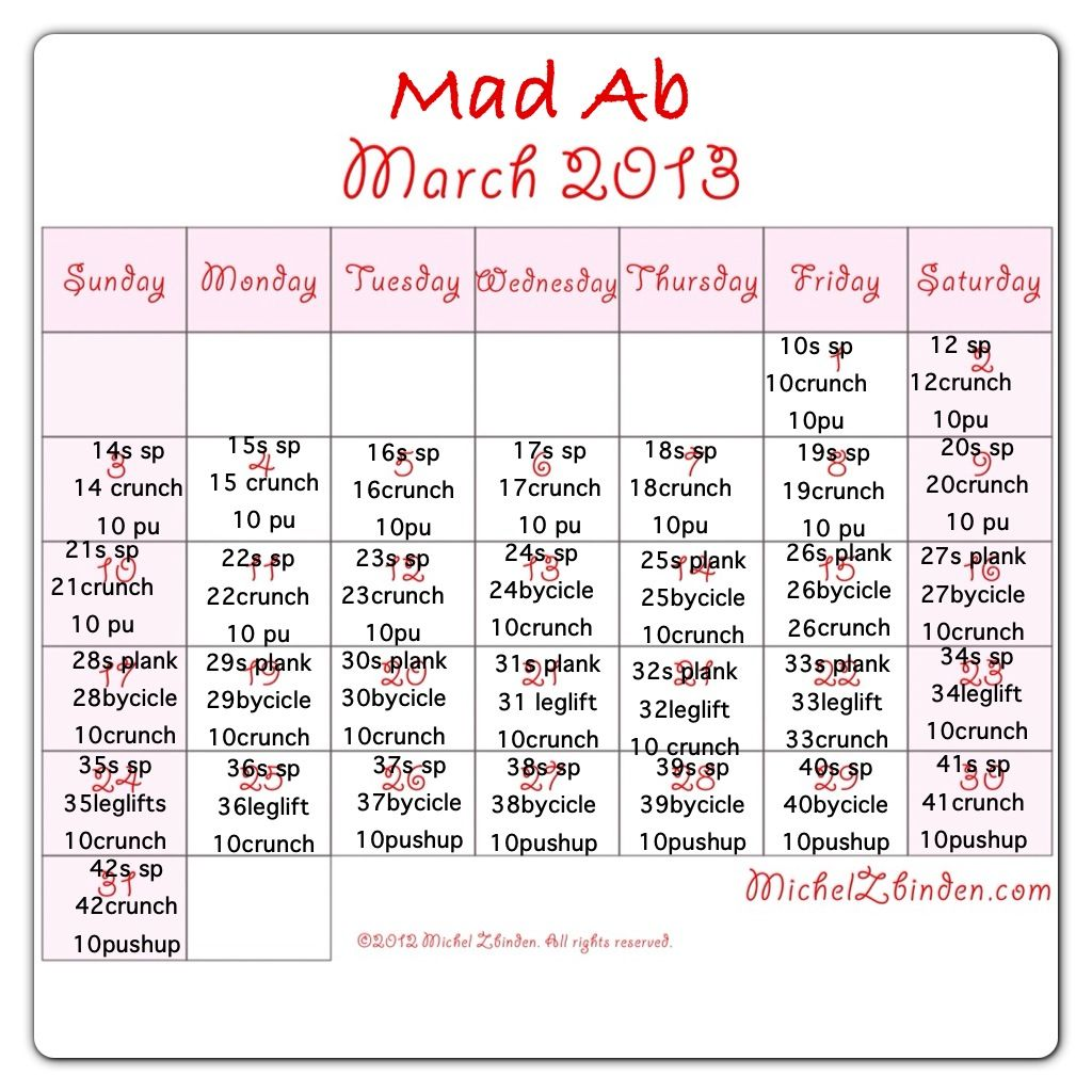 I made this mad ab march calendar :)