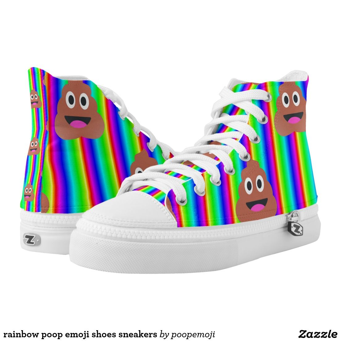 rainbow poop emoji shoes sneakers