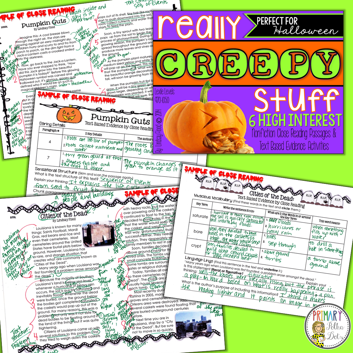 Halloween Close Reading