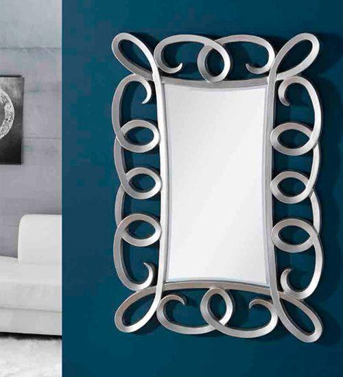 Giner y Colomer, ESPEJO CLASICO ISABEL PLATA, ideal para la decoración integral de dormitorios como espejo vestidor o decoración de comedores para el aparador en posición horizontal.