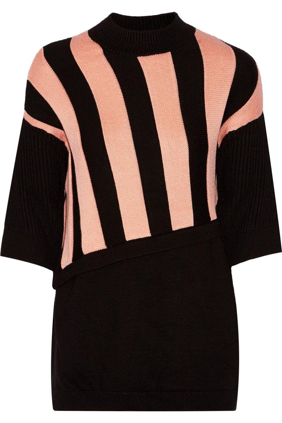 3.1 PHILLIP LIM Two-Tone Jacquard-Knit Sweater. #3.1philliplim #cloth #sweater