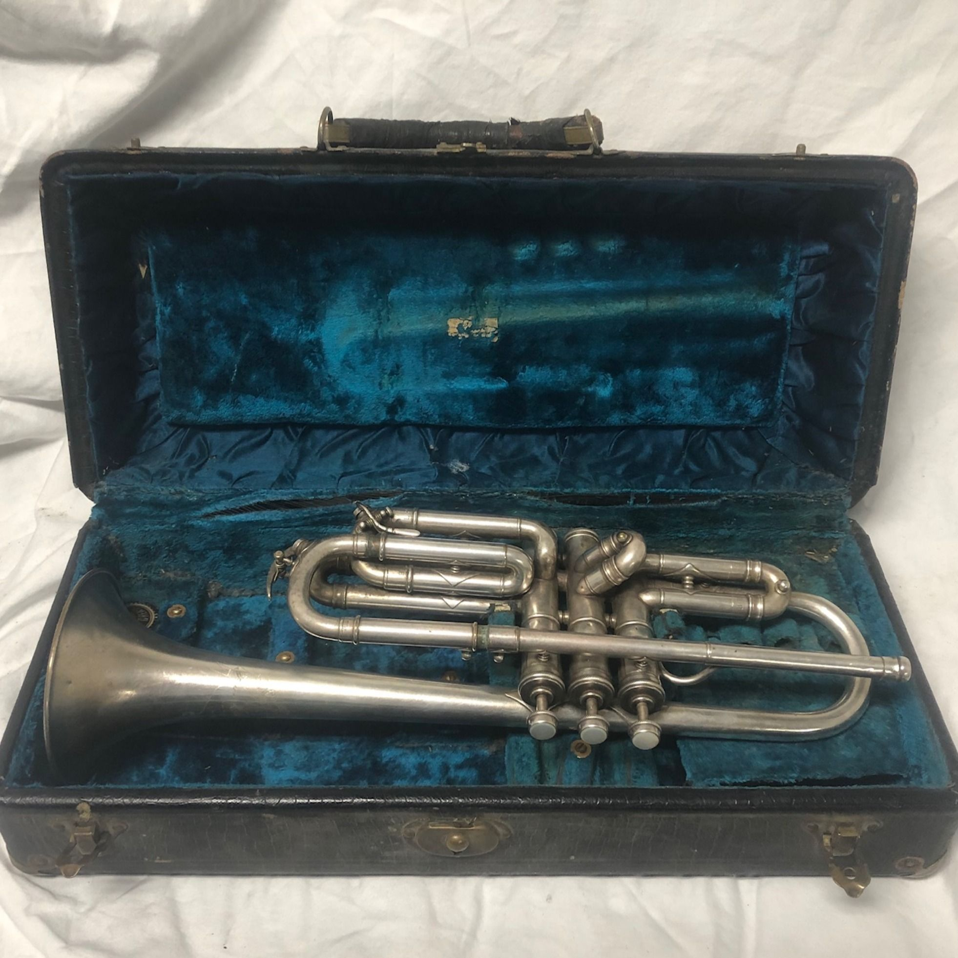 Details about King Vintage 1920's Silver Alto Saxophone in