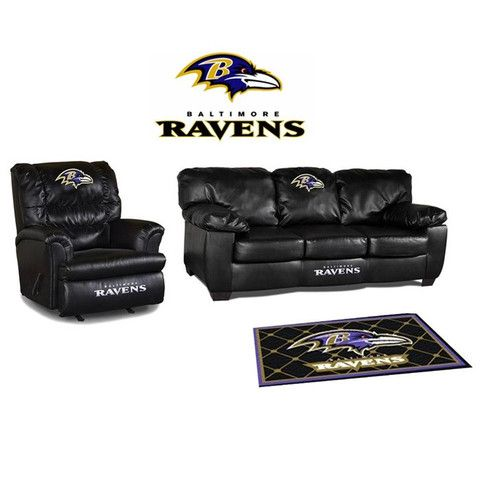 Charmant Baltimore Ravens Leather Furniture Set For My WOMAN Cave One Day!
