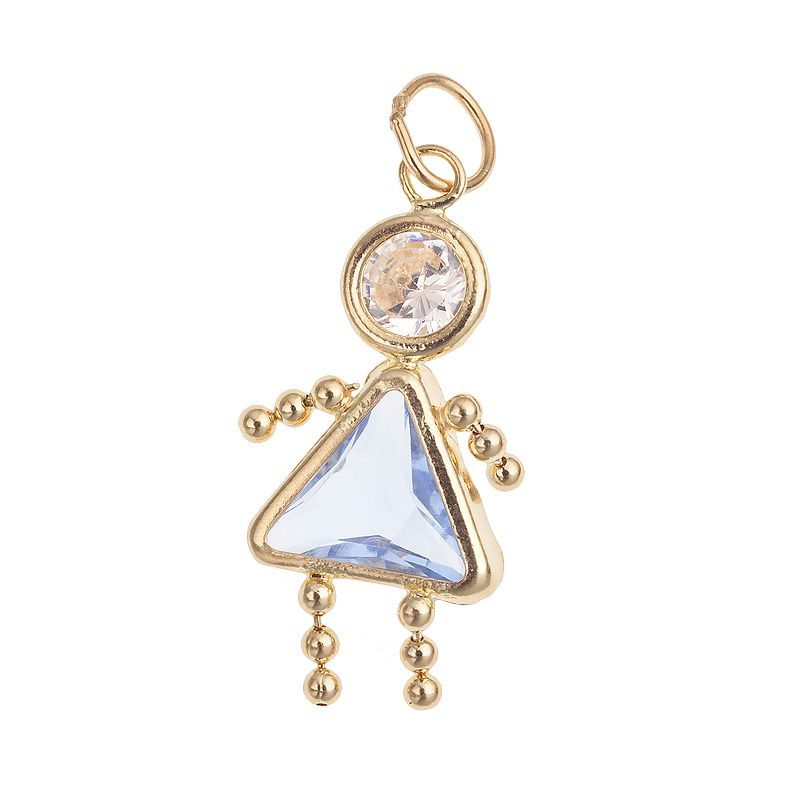 10k Gold Birthstone Babies Girl Charm Products Girls Accessories Kids Outfits Girls Birthstones