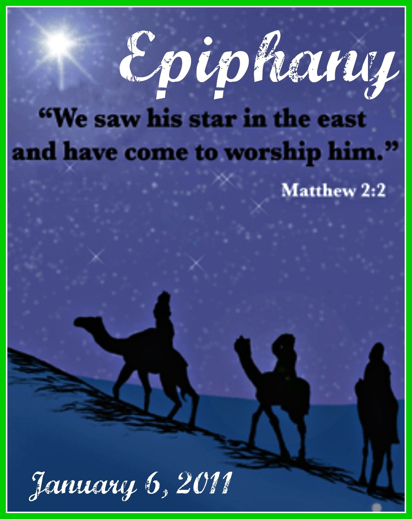 January 6Th  Epiphany