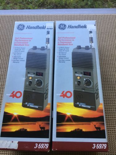 Cb radios ge 40 channel portable handheld cb transceiver 3 5979 cb radios ge 40 channel portable handheld cb transceiver 3 5979 never used in sciox Gallery
