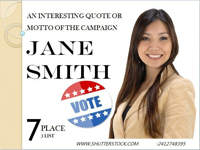 Political Campaign Flyer   Free Political Campaign Flyer